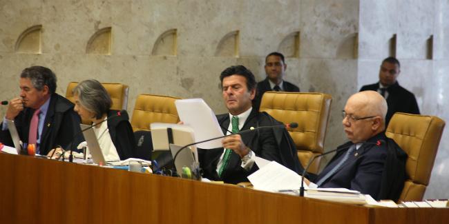 Ministros do Supremo durante sessão realizada no dia 14 de agosto