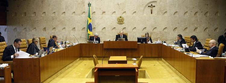 Ministros do Supremo Tribunal Federal durante sessão do Plenário