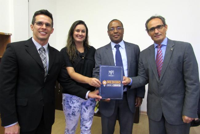 Procurador do MPC Luciano Vieira; promotora de Justiça Sabrina Fajardo; procurador-geral do MPC Luis Henrique Anastácio; procurador da República Ercias Rodrigues de Sousa